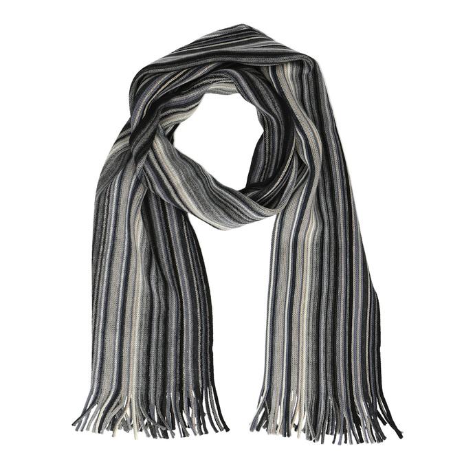 Pruhovaný pánsky šál bata, šedá, 909-2228 - 13