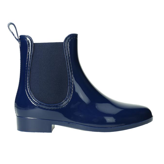 Dámske gumáky v štýle Chelsea bata, modrá, 592-9114 - 15