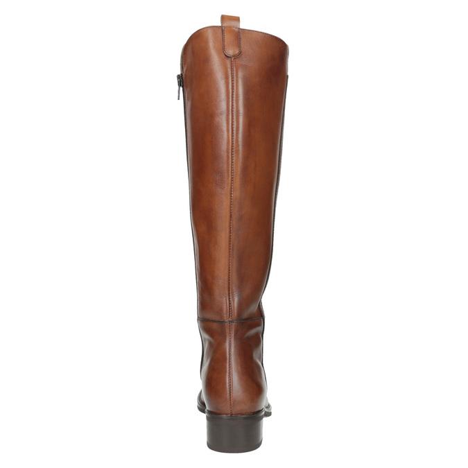 Dámske kožené čižmy bata, hnedá, 594-3586 - 17