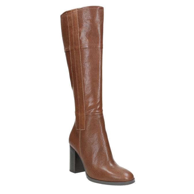 Dámske kožené čižmy bata, hnedá, 796-4637 - 13