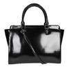Lakovaná kabelka s prešitím bata, čierna, 961-6708 - 19