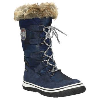 Štýlové snehule s kožúškom bata, modrá, 599-9609 - 13