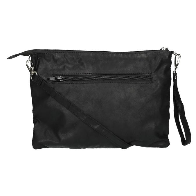 Čierna listová kabelka bata, čierna, 969-6631 - 26
