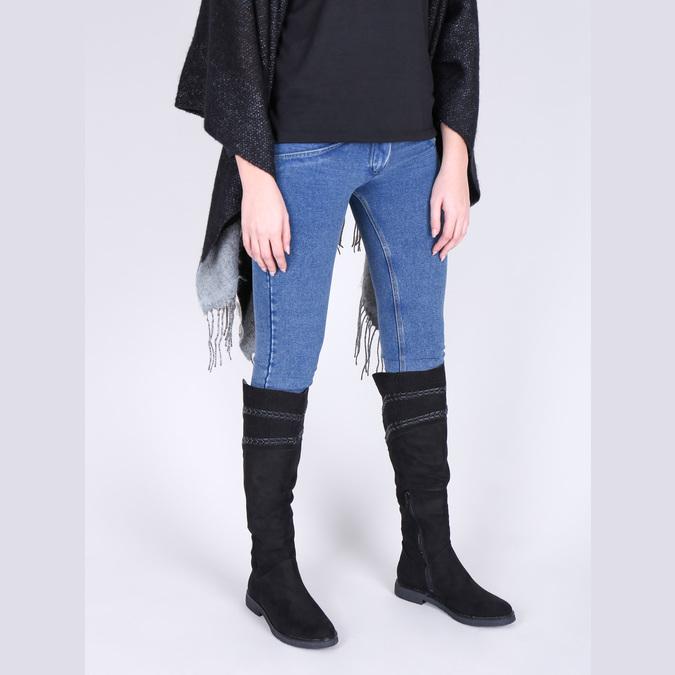 Dámské čižmy nad kolená čierne bata, čierna, 599-6602 - 18