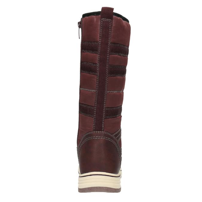 Dámske snehule s kožúškom bata, červená, 599-5614 - 17