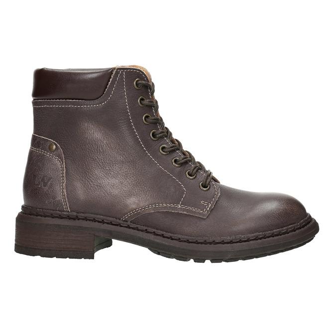 Dámska kožená členková obuv weinbrenner, hnedá, 596-4632 - 15
