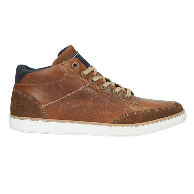 Kožené členkové tenisky bata, hnedá, 844-4621 - 15