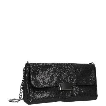Trblietavá dámska listová kabelka bata, čierna, 969-6220 - 13
