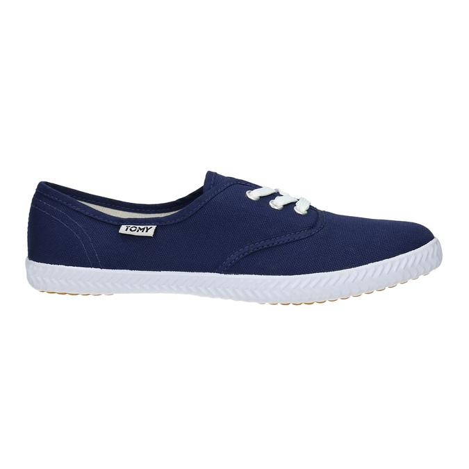 Modré textilné tenisky tomy-takkies, modrá, 519-9691 - 15