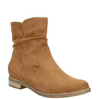 Hnedé členkové čižmy bata, hnedá, 599-4614 - 13