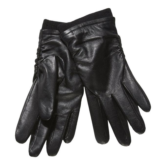 Kožené dámske rukavice bata, čierna, 904-6107 - 13