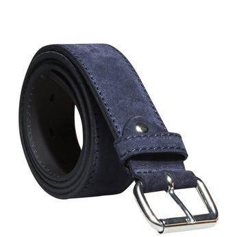 Pánsky kožený opasok bata, modrá, 953-9106 - 13