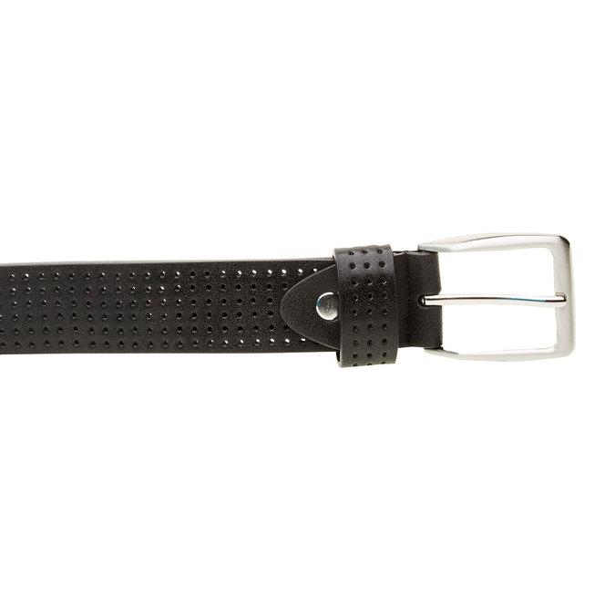 Kožený opasok s perforáciou bata, čierna, 954-6232 - 26