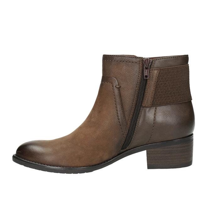 Dámska členková obuv bata, hnedá, 696-4605 - 26