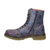 Kožená členková obuv s kvetinovým motívom bata, modrá, 596-9609 - 26