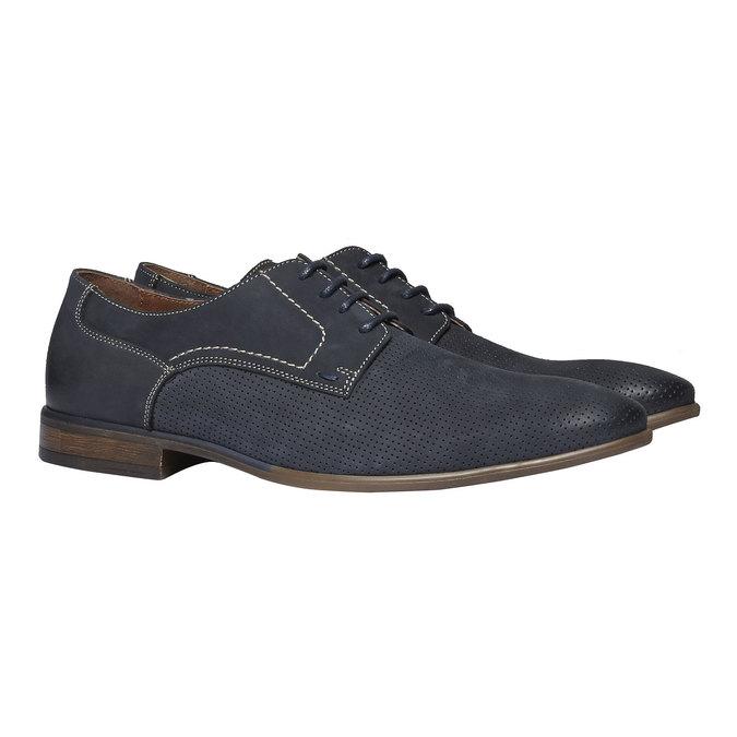 Ležérne kožené poltopánky bata, čierna, 826-6832 - 26