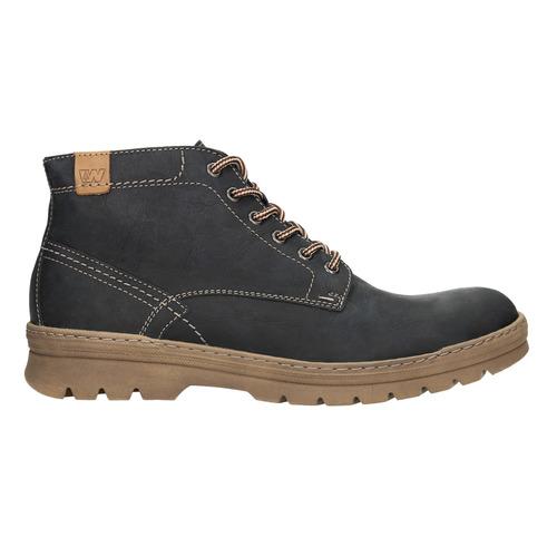 Pánska zimná kožená obuv weinbrenner, čierna, 896-6107 - 26