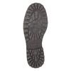 Kožené poltopánky s prešitím na špičke bata, čierna, 826-6640 - 26