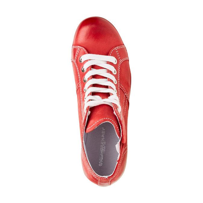 Kožené členkové tenisky bata, červená, 524-5310 - 19