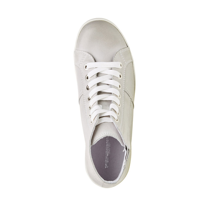 Kožené členkové tenisky bata, biela, 524-1310 - 19