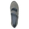 Kožené baleríny s remienkom cez priehlavok bata, šedá, 524-2497 - 19