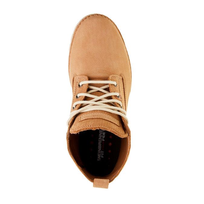 Kožené členkové topánky weinbrenner, hnedá, 594-3531 - 19