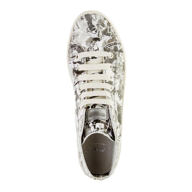 Kožené členkové tenisky bata, biela, 526-1130 - 19