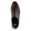Kožená členková obuv so zipsami bata, červená, 596-5605 - 19