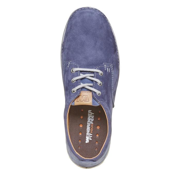 Pánska kožená obuv weinbrenner, modrá, 846-9657 - 19