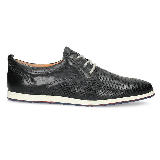 Ležérne kožené poltopánky bata, čierna, 824-9124 - 19