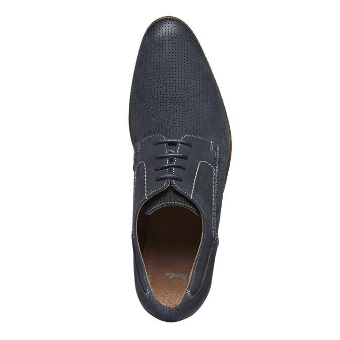 Ležérne kožené poltopánky bata, čierna, 826-6832 - 19