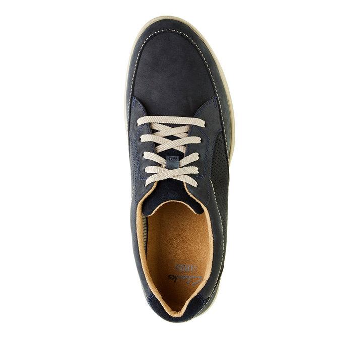 Pánska obuv z brúsenej kože clarks, modrá, 826-9006 - 19