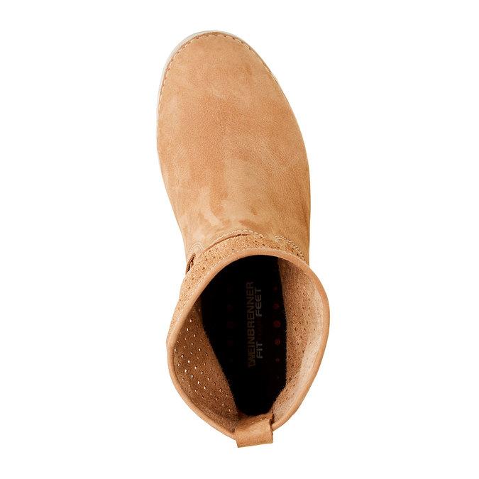 Kožené členkové topánky weinbrenner, hnedá, 596-4121 - 19