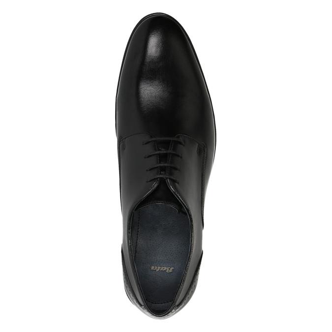 Pánske kožené poltopánky bata, čierna, 824-6705 - 19