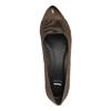 Kožené lodičky na klinovom podpätku bata, hnedá, 626-4603 - 19