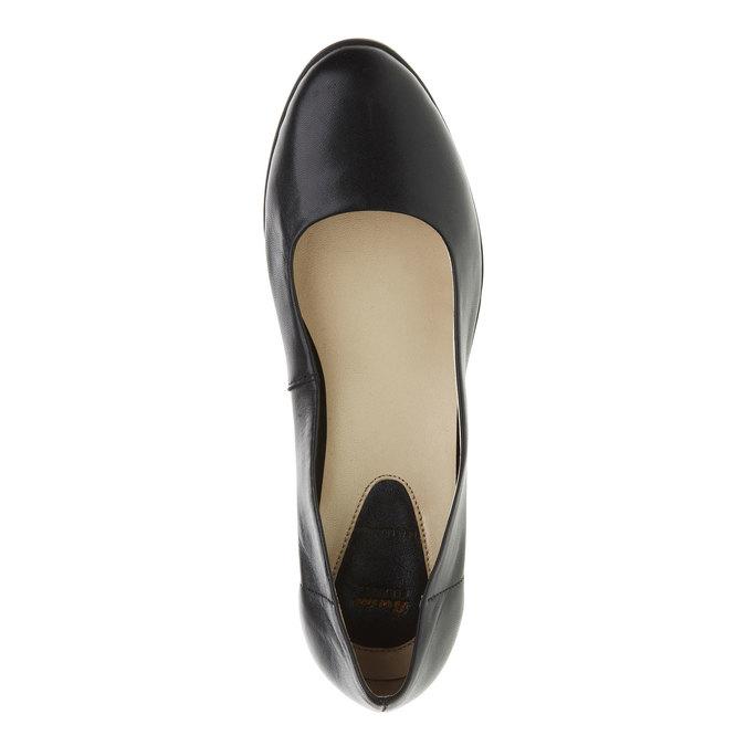 Čierne kožené lodičky flexible, čierna, 624-6393 - 19
