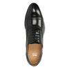 Kožené poltopánky v Oxford strihu bata, čierna, 824-6642 - 19
