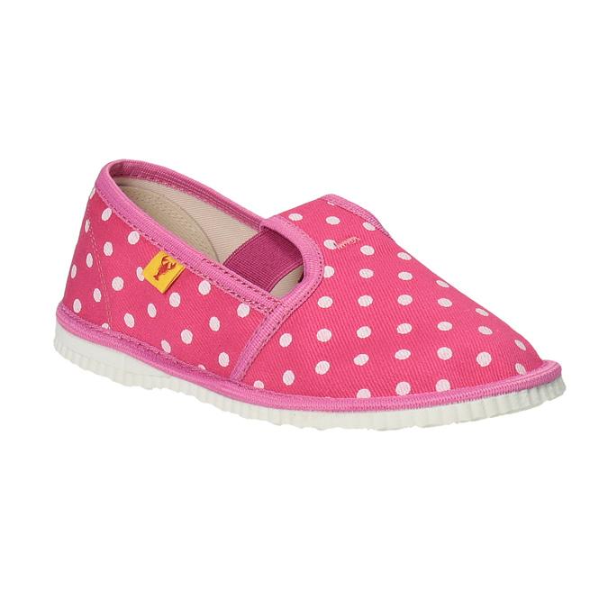 Dievčenská domáca obuv s bodkami bata, ružová, 279-5103 - 13