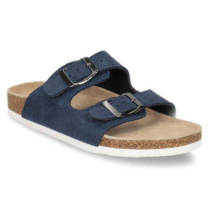 Detské modré papuče de-fonseca, modrá, 373-9600 - 13
