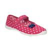 Detská domáca obuv s remienkom cez priehlavok mini-b, ružová, 379-5209 - 13