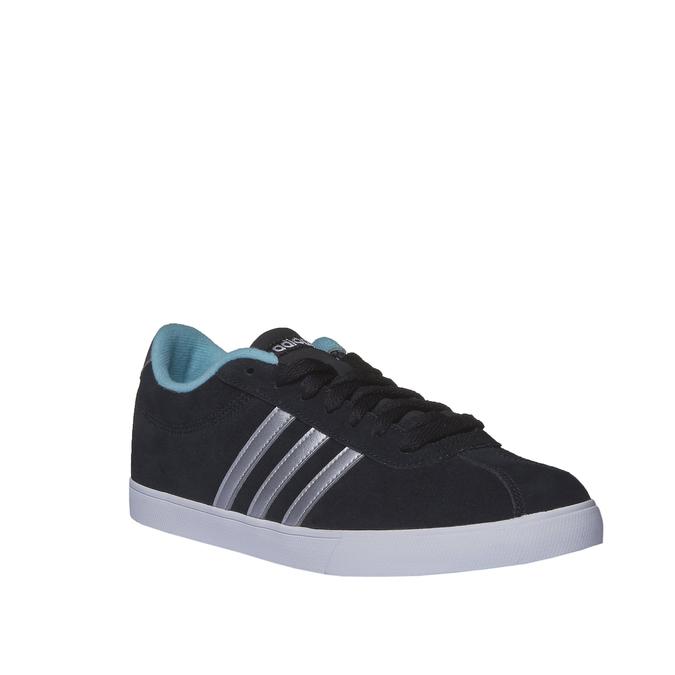 Ležérne semišové tenisky adidas, čierna, 503-6685 - 13