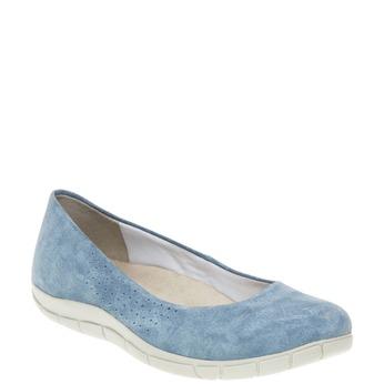 Ležérne kožené baleríny weinbrenner, modrá, 526-9103 - 13