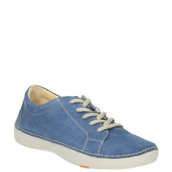 Ležérne kožené tenisky flexible, modrá, 526-9603 - 13
