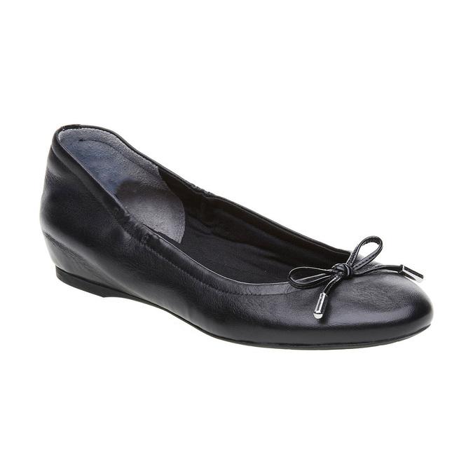 Čierne kožené baleríny rockport, čierna, 524-6121 - 13