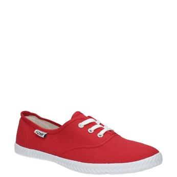 Červené dámske tenisky tomy-takkies, červená, 519-5691 - 13