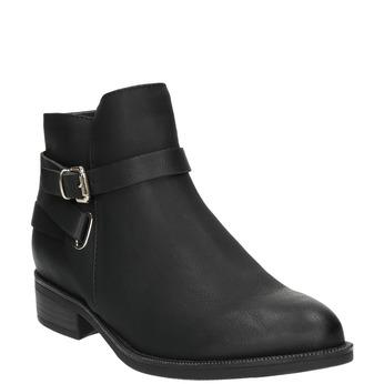Čierne členkové čižmy bata, čierna, 591-6602 - 13