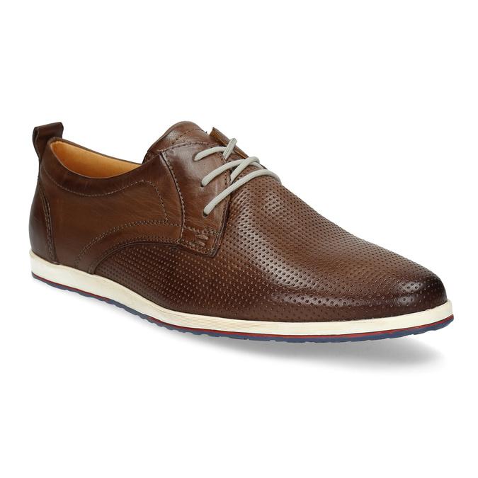 Ležérne kožené tenisky bata, hnedá, 824-4124 - 13