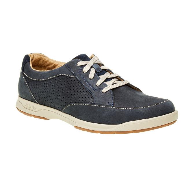 Pánska obuv z brúsenej kože clarks, modrá, 826-9006 - 13