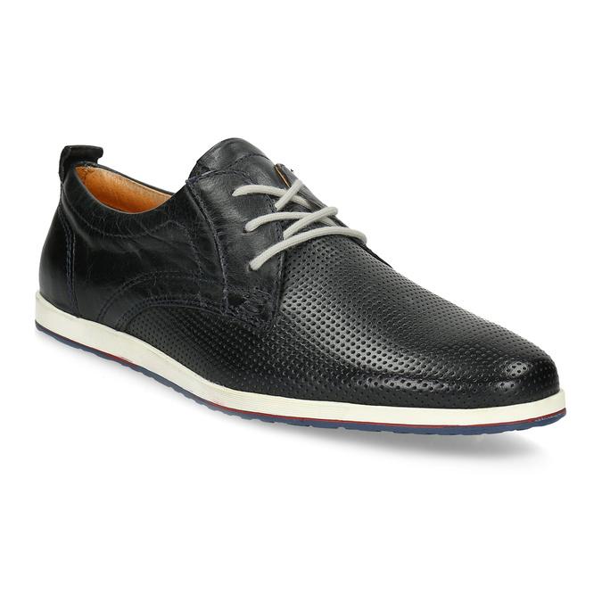 Ležérne kožené poltopánky bata, čierna, 824-9124 - 13
