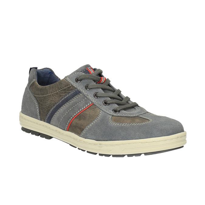 Pánske kožené tenisky bata, šedá, 826-2649 - 13